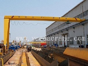 BMH Model Single Beam Semi Gantry Crane
