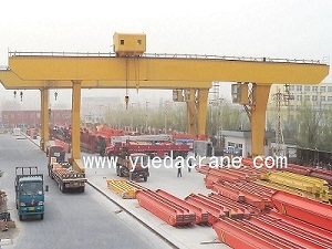 L model single beam gantry crane with winch type trolley