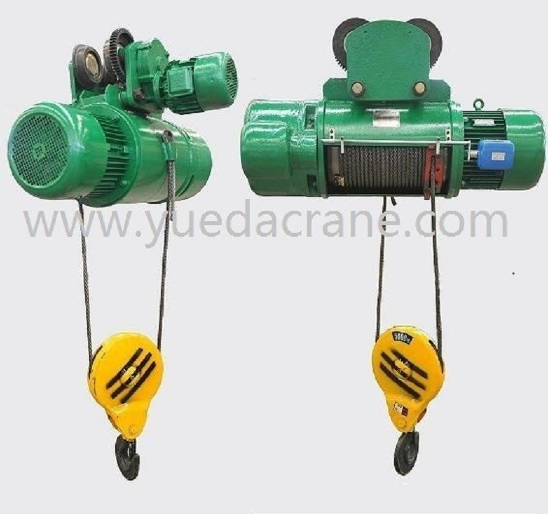 CD or MD model wirerope electric hoist: