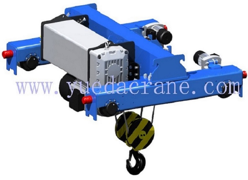 european standard wirerope type double rail electric hoist