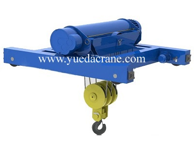 Wire rope type double rail electric hoist