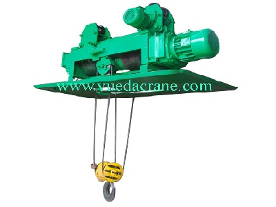 HY model wire rope electric foundry hoist