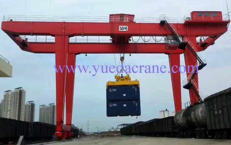 GJM model double girder gantry crane with spreader